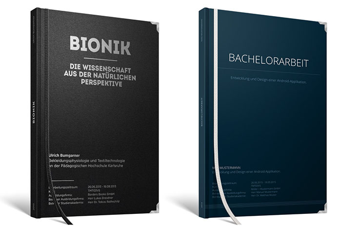 bachelor thesis einband